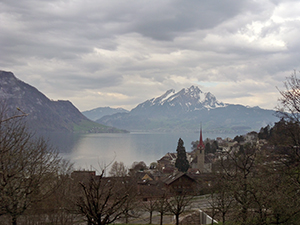 Lake Lucerne in Switzerland, taken during the Eurospring 2013 tour.  Many students in Eurospring 2014, including Lampert, are planning on making stops in some of the same cities visited by Eurospring in previous years.   (Photo by David Teeples)