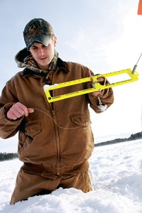 The constant re-setting of lines down the hole is the only down side to this style of fishing. Frozen lines can make that task not easy sometimes.
