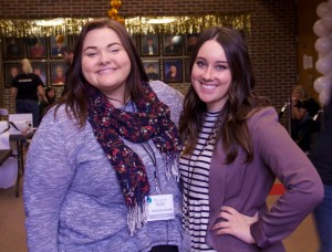 Jessica Dalen and Tayala Kautz pose for a photo before the festivities begin.