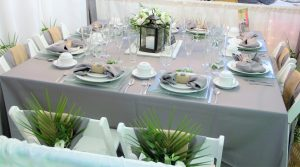 A look into what Lefty's Tent and Party Rental have to offer for table and chair rentals. They also offer food, beverages and several different decor options.